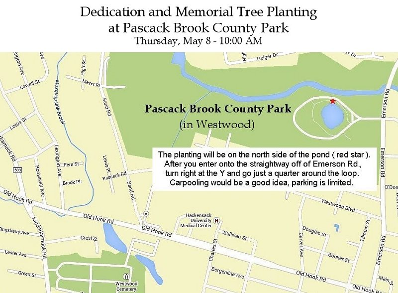 2014 Pascack Brook County Park map